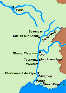 River Rhone Route